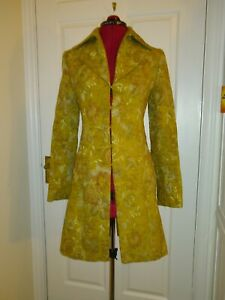 H-amp-M-Vintage-Look-Gold-Three-Quarters-Length-Coat