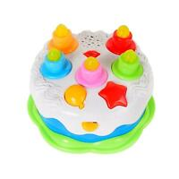 Birthday Cake Toy Candles Play Food Kids Toddler Music Light Up Gift Learn