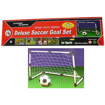 Fußballtor mit Netz + Ball + Pumpe  ++ Deluxe Soccer Goal Set ++ 91,5 x 61 x 48