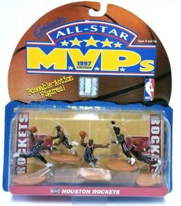 Galoob's All-Star MVPs 1997 Houston Rockets Figures Charles Barkley Olajuwon NEW