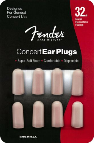 Genuine Fender® disposable 32dB Concert earplugs 4 pairs 099-0541-000