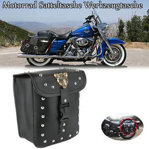 Motorrad-Satteltaschen-Werkzeugtaschen-Seitentaschen-PU-Leder-Fuer-Harley