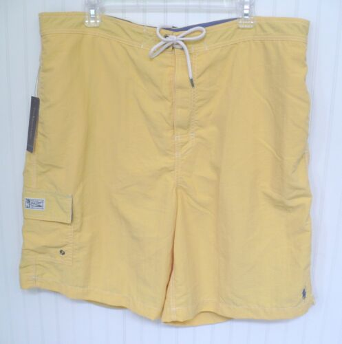 Ralph Lauren Swimsuit Yellow Swim Suit Blue Board Shorts Side Pockets