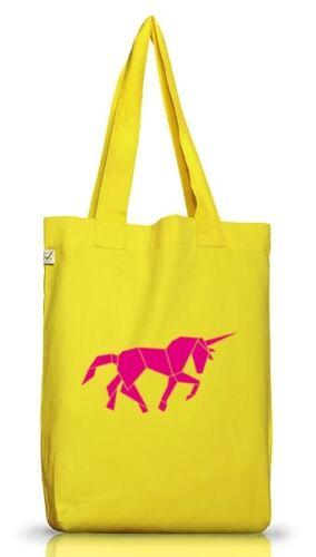 Tangram Einhorn,Tier Natur Jutebeutel Stoff Tasche Earth Positive Shirtstreet24