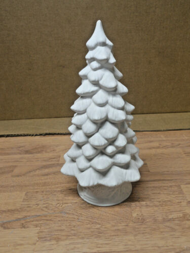 C-0274-1 Christmas tree With Base Ceramic Bisque U Paint