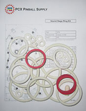 1976 Chicago Coin Sound Stage Pinball Rubber Ring Kit