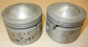 1958-ONLY-Matchless-G12-650cc-NOS-72mm-STD-Hepolite-15242-pair-BARE-pistons-90