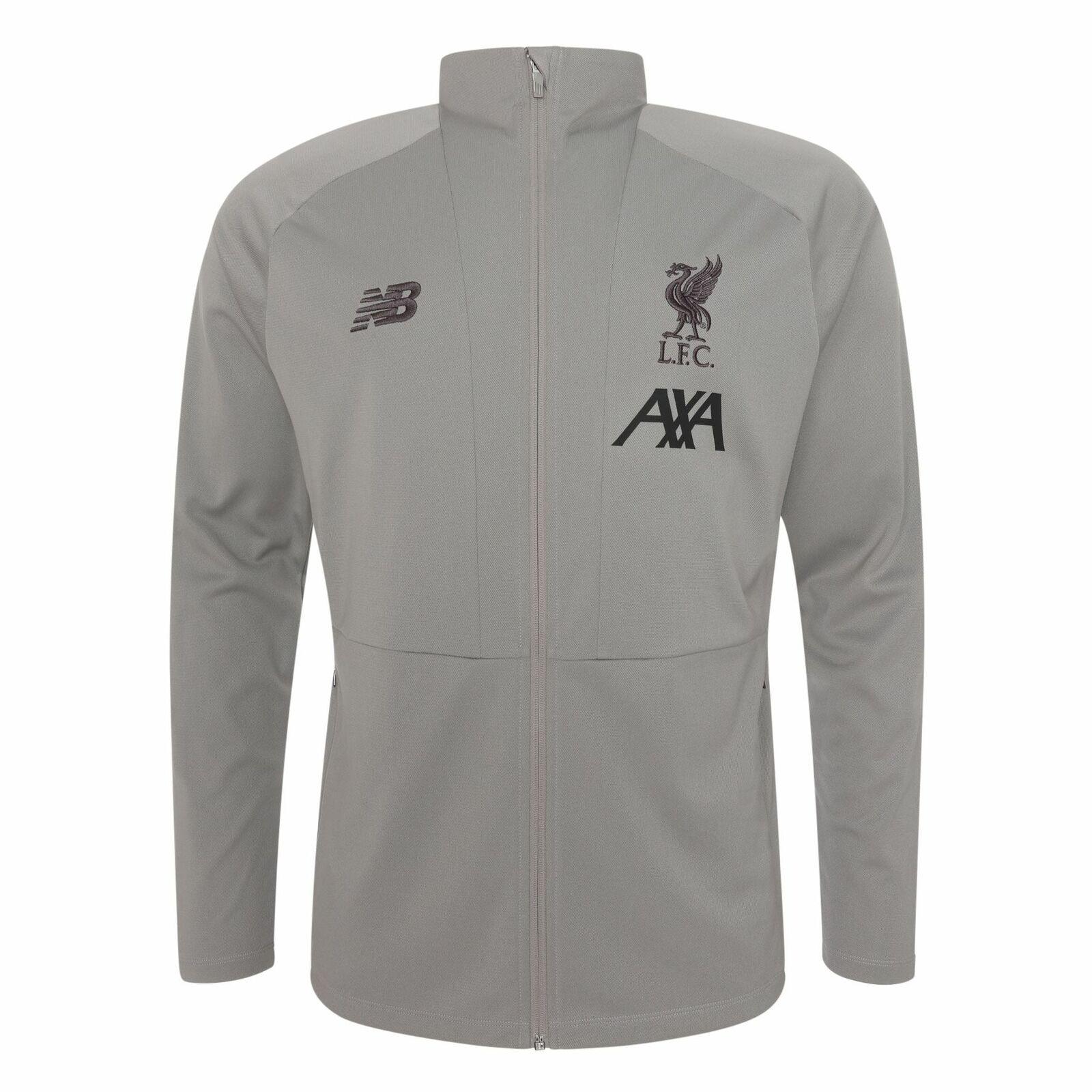 Liverpool FC grises Para Hombre Chaqueta de punto de viaje de entrenamiento fútbol 19 20 LFC oficial