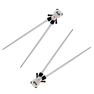 Details about 1 pair Cute Children Training Chopsticks Silicone Panda  Helper Learning Gift Toy