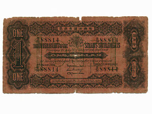 Straits-Settlements-P-1c-1-Dollar-1915-RARE