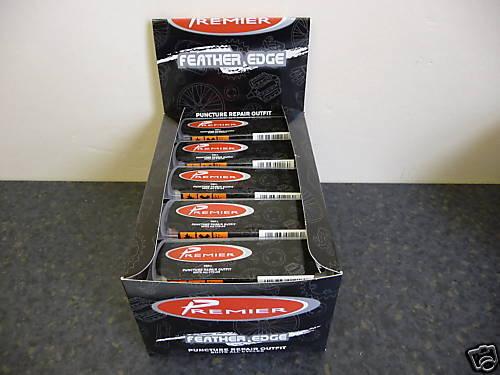 PUNCTURE REPAIR OUTFIT x25 Premier Inner tube repair kits bike bicycle rubber