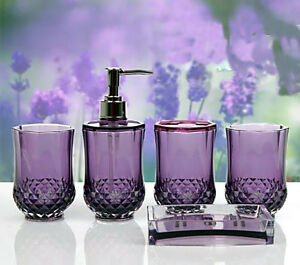 Bathroom Accessories Dubai 5pc set acrylic bathroom accessories bathroom set glamarous purple