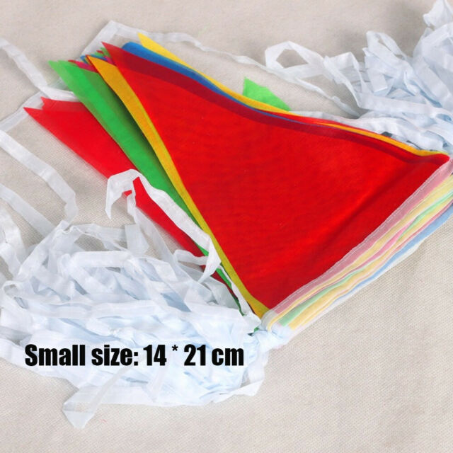 Triangle Pennant Banner Bunting Flags Festival Party Event Home DIY Decor Supply