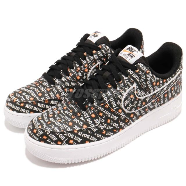 pretty nice a1acb 750d6 Nike Air Force 1 07 LV8 JDI Just Do It Black White Mens AF1 Sneakers AO6296
