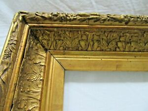ANTIQUE-FITS-10-X14-034-GOLD-PICTURE-FRAME-WOOD-GESSO-ORNATE-FINE-ART-COUNTRY