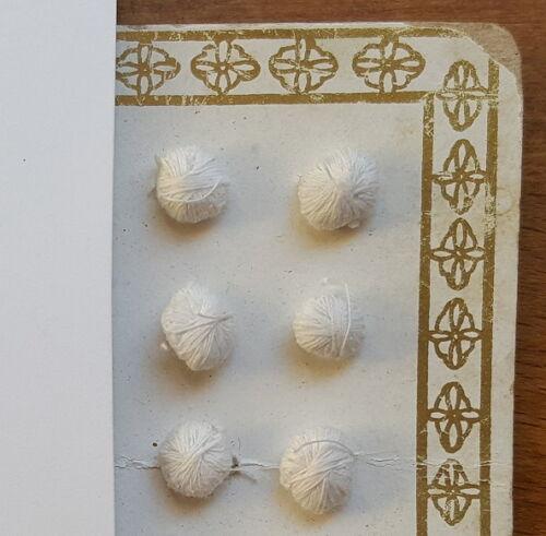 Antik 6 ancestral ORIG tela Jugendstil botones botones decorativos a mano Ø 6mm para 1900