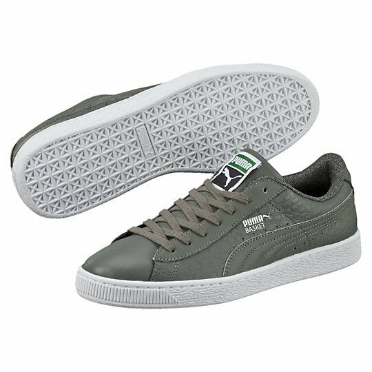 New PUMA Basket Classic Textured Men's Casual shoes Sneakers Asparagus 360191 03