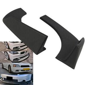2x-Universal-ABS-Front-Rear-Bumper-Lip-Splitters-Winglets-Canards-Black-Textured