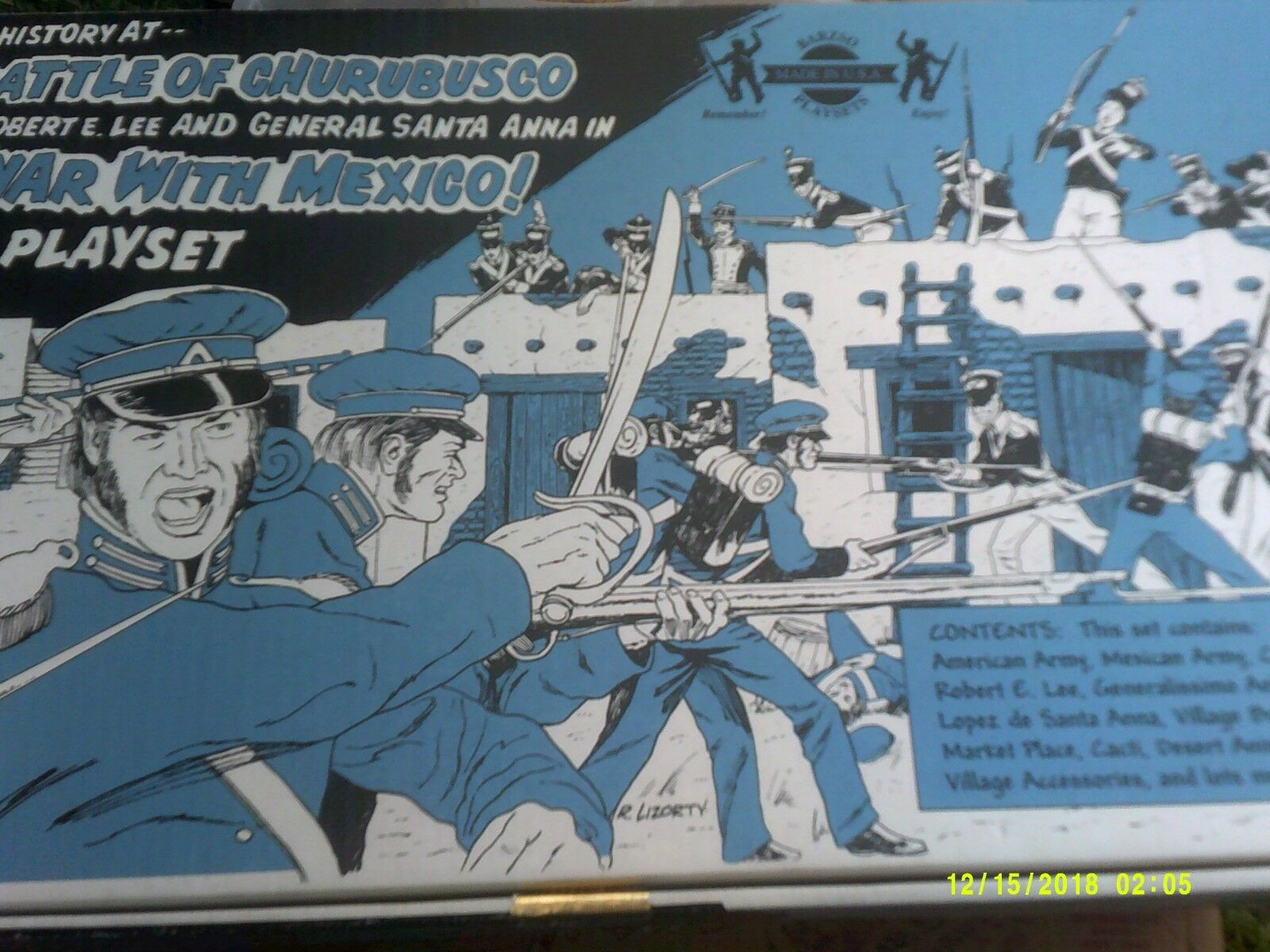 BARZSO BATTLE OF CHURROBUSCO PLAYSET COMPLETE.