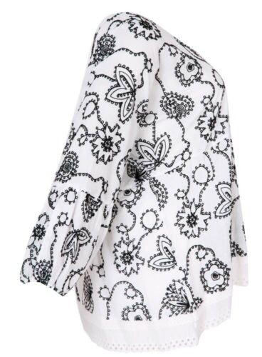 Schwarz Fashion Mat 50 Bestickungen Gr 52 Lagenlook l Weiß Tunika qHwCqU0