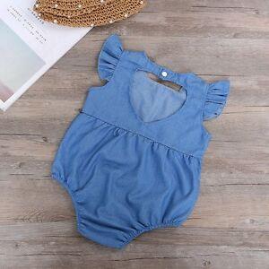 0cba636236aa Image is loading Newborn-Toddler-Infant-Baby-Girl-Romper-Jumpsuit-Bodysuit-