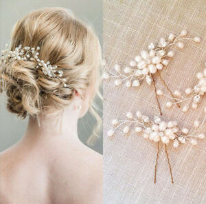 Details about women white pearl flower hair clip hairpin for wedding bride hair accessories image is loading women white pearl flower hair clip hairpin for mightylinksfo