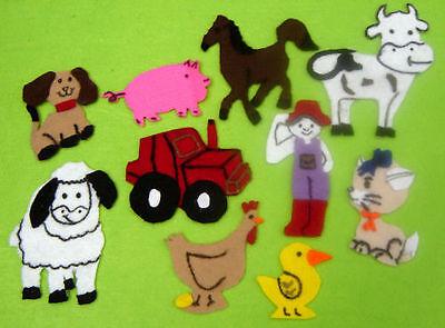 Old Mc Donald Had A Farm Felt story parent teacher resource Kids pretend play