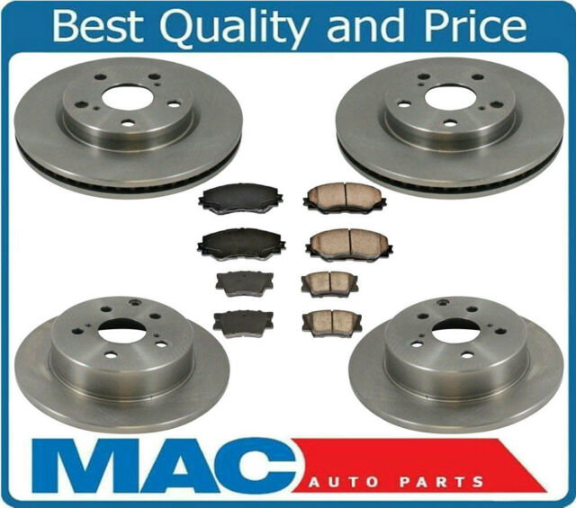 Fits 06-17 Rav4 Without 3Rd Row Seating Brake Disc Rotors