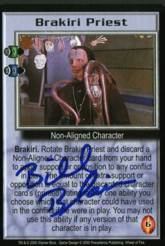 BABYLON 5 Bill Blair WHEEL FIRE Brakiri Priest Signed TRADING CARD AUTOGRAPHED