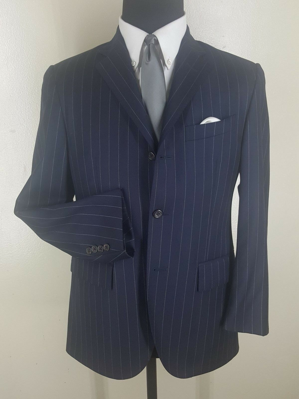 POLO RALPH LAUREN Made In  100% Wool Suit 3 Btn  Pleated  Pants  38 Short