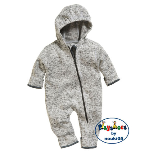 Playshoes Baby Strick fleece Overall 421010 multicolor grau Gr 62-86 Babyanzug