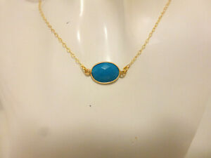 Genuine-14-Kt-gold-chain-genuine-turquoise-necklace-turquoise-pendant
