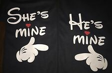 He's Mine And She's Mine Pointing Hands Disney Couple  Unisex Tshirt