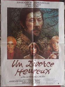 Affiche-UN-DIVORCE-HEUREUX-Andre-Dussollier-JEAN-ROCHEFORT-Bulle-Ogier-60x80cm
