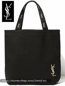 42605667a339 Image is loading Y-S-L-Embroidery-LOGO-Canvas-Shopping-Bag-Shoulder-Bag-