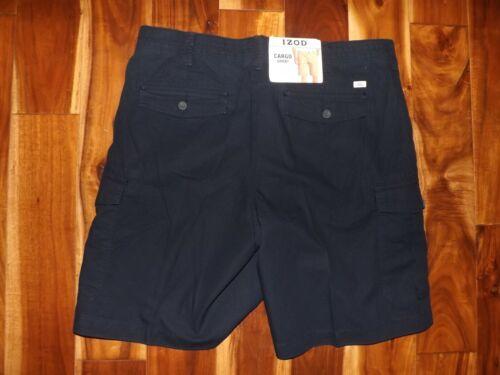 Izod Mens Ripstop Cargo Casual Flat Front Shorts NWT Khaki Gray Blue 32 34 36 38
