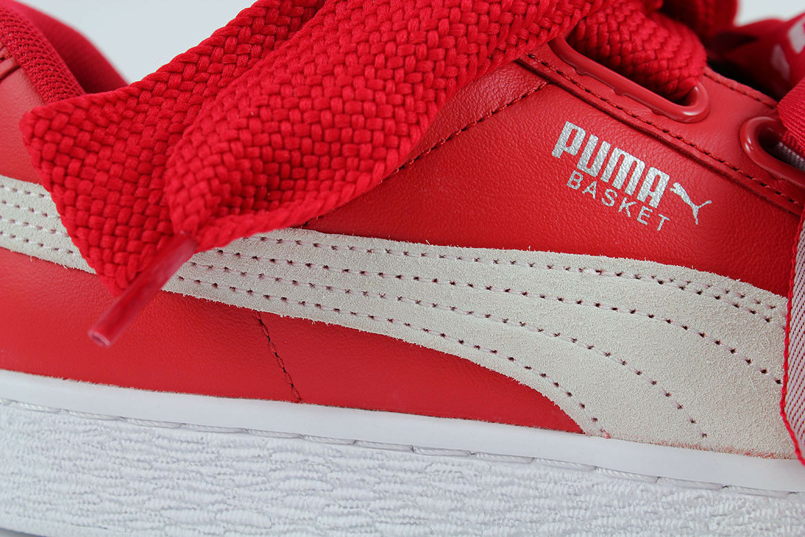 PUMA BASKET BASKET BASKET HEART DE TOREADOR rot Weiß RIHANNA FASHION LEATHER US damen GrößeS 6055b2