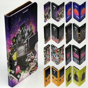 For Samsung Galaxy Series - 1980s Retro Trend Print Wallet Mobile Phone Cover #2