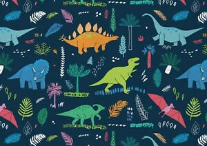 A1-Colourful-Cartoon-Dinosaurs-Poster-Art-Print-60-x-90cm-180gsm-Gift-15177