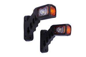 2x-12V-LED-Begrenzungsleuchten-Positionsleuchten-Kurz-Anhaenger-E-Pruefezeichen