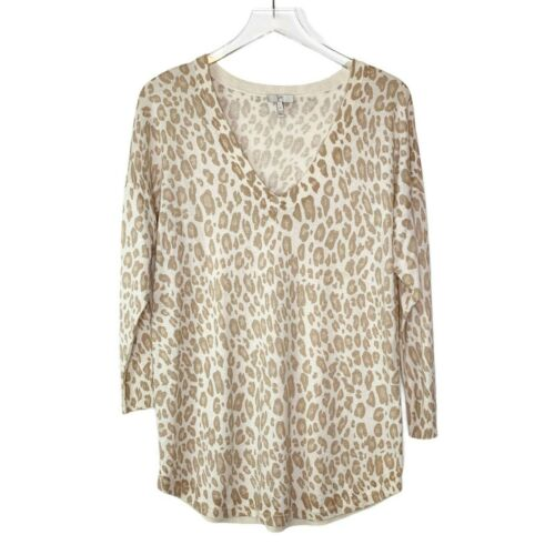 Joie Chyanne Bold Leopard Print Pullover Sweater S