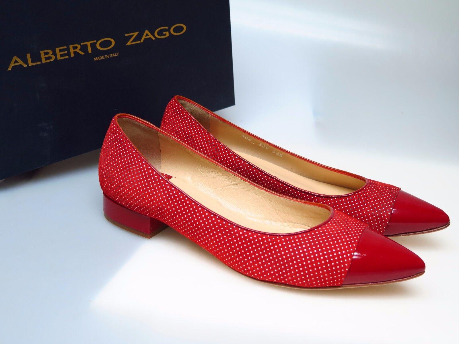 ALBERTO Risa ZAGO Damenschuhe Schuhe 302 Vernice Pois Piccolo Risa ALBERTO Gr. EU 38,5 NEU 3e68f5