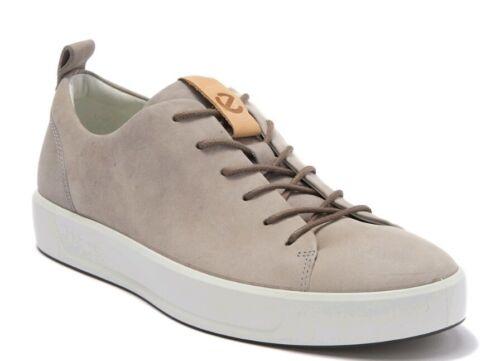 ECCO Mens Soft 8 Tie Fashion Sneaker US 9-9.5 EU 43 Moon Rock Tan Leather Lace
