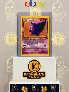 Gengar 20//62 1st Edition NM Near Mint Fossil Set Rare Non-Holo Pokemon Card