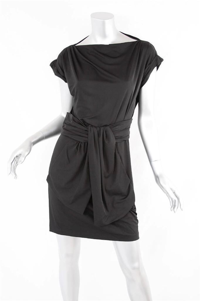 DIANE VON FURSTENBERG damen schwarz Boat Neck Short-Sleeve Shift Mini Dress S