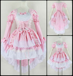 Japan Ruffle Fancy Lolita Princess Dress Maid Outfit Anime Cosplay Costume Party