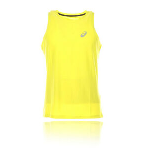 Details about Asics Mens Essentials Singlet Running Vest Yellow Sports Breathable Reflective