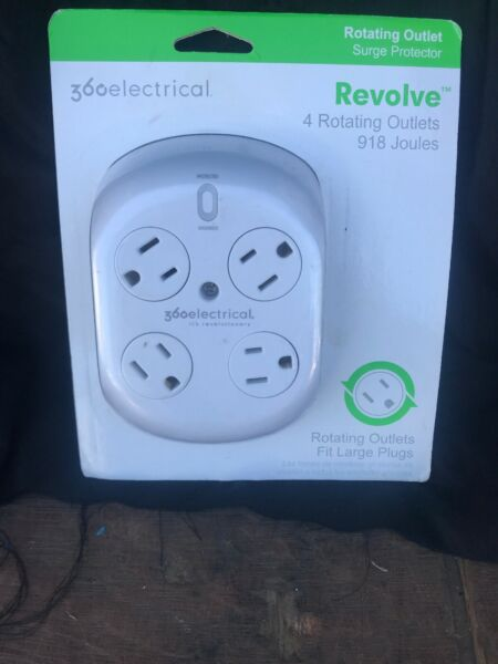 360 Electrical 36036 Revolve Surge Protector Rotating Outlets 4-outlet New Usb