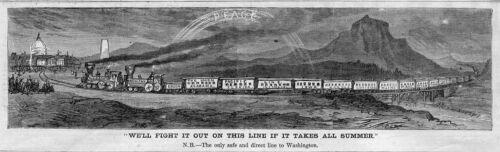RAILROAD UNION PACIFIC LINE LOCOMOTIVE GRANT COLFAX WASHINGTON MONUMENT TRAIN