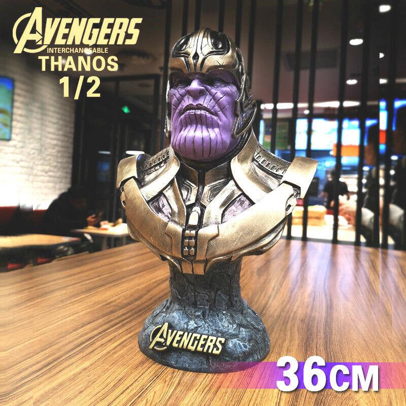 Avengers Infinity  War THANOS cifra 1 2 autoautobusto in Resina Statua cifra 36CM NUOVO  goditi il 50% di sconto